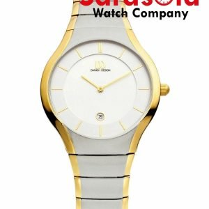 Danish Design IQ65Q943 White Dial Two Tone Titanium Quartz Sapphire Mens Watch 132011641759
