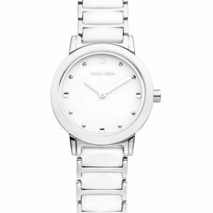 Danish Design IV62Q946 White Dial SteelCeramic Quartz Sapphire Womens Watch 122238548049