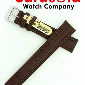 Di Modell Chronoline 18mm Regular Brown Double Stitching Watch Band 16mm Buckle 123499702489