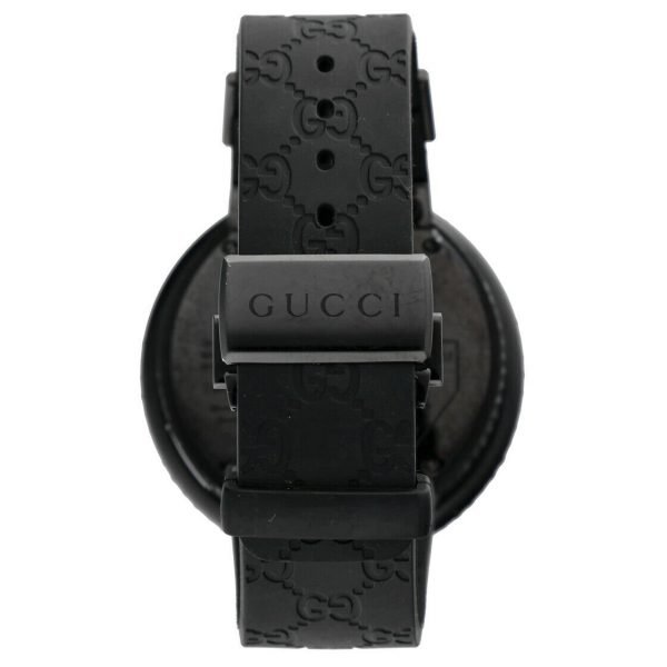 Gucci 316L Black Steel Diamonds 50mm Digital Stainless Steel Quartz Wrist Watch 133572233279 6