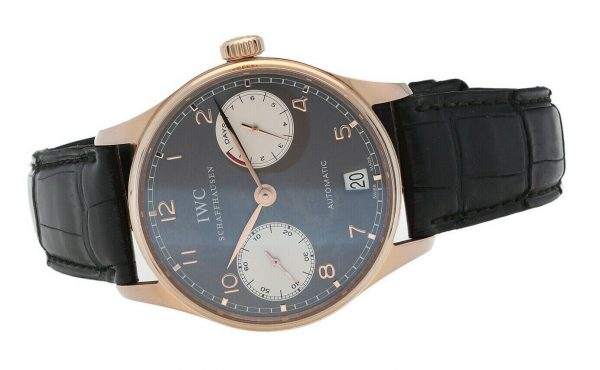 IWC Portuguese 7 Day Power Reserve Gray Dial 18k Rose Gold Automatic Wrist Watch 114844981209 4