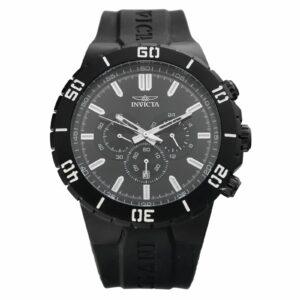 Invicta Pro Diver 19200 Black Stainless Steel 54mm Rubber Quartz Mens Watch 114584753989