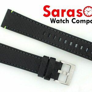 Original Seiko Calf Leather Black Carbon Watch Band 2018mm Buckle 132823574399